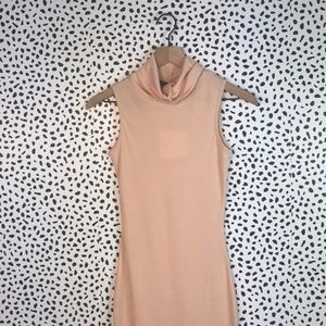 Nwt misguided pink turtleneck dress size 2